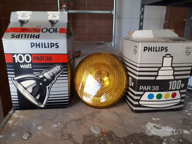 Lampadine vintage Philips 100 watt gialle