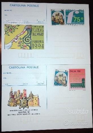 2 cartoline postali Mantova 92 Verona 94 affranca