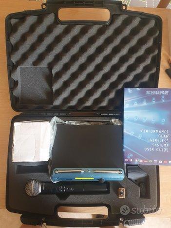 Microfono Shure SM58 wireless professionale