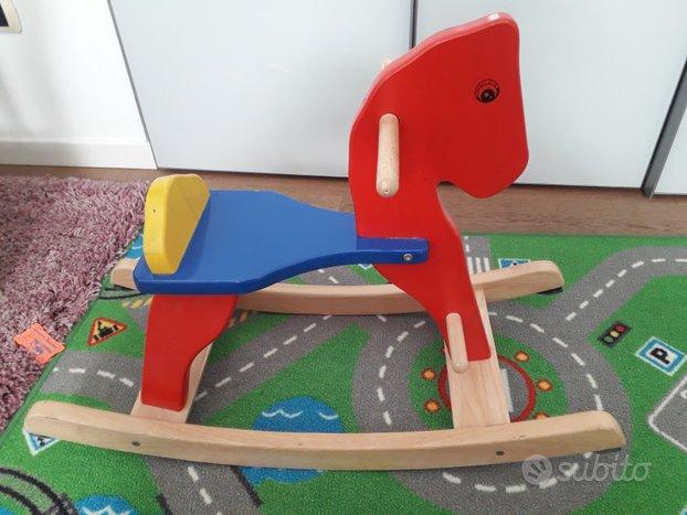 Cavallo dondolo legno massello
