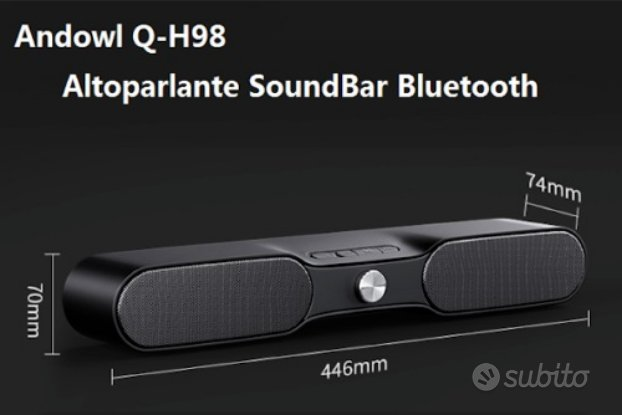 3D Soundbar Altoparlante Bluetooth TWS 10W bass