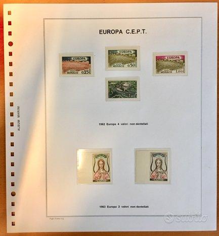 Francobolli Europa-Monaco anno 1962 e 1963