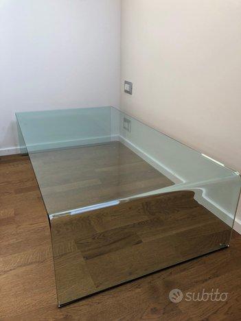 Tavolino da fumo in cristallo curvato,FIAM