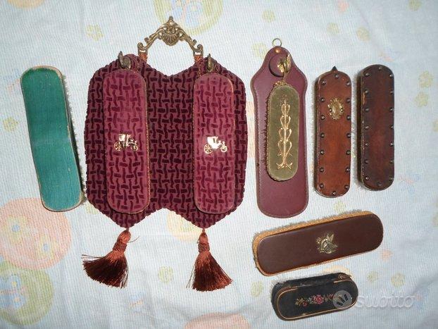 Conservate 8 Antiche spazzole per abiti e scarpe