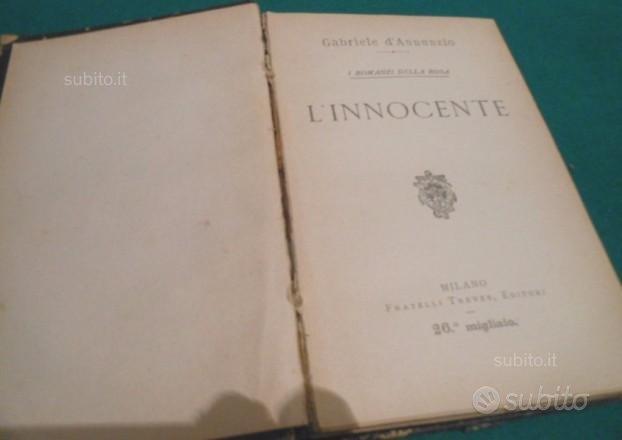 L'innocente di Gabriele D'Annunzio 1912
