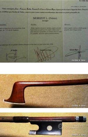Arco da violino Louis Morizot freres certificato R