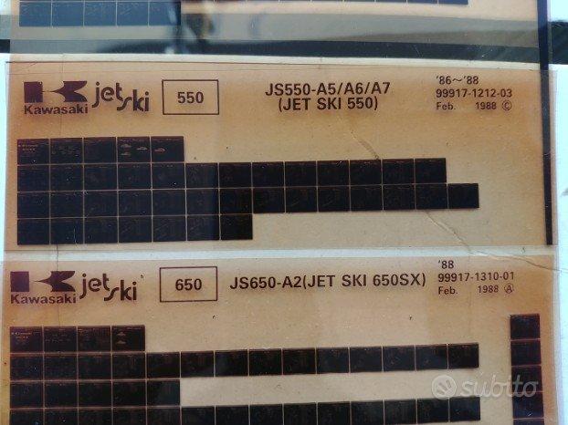 schede ricambi kawasaki js 550 js 650 moto d acqua