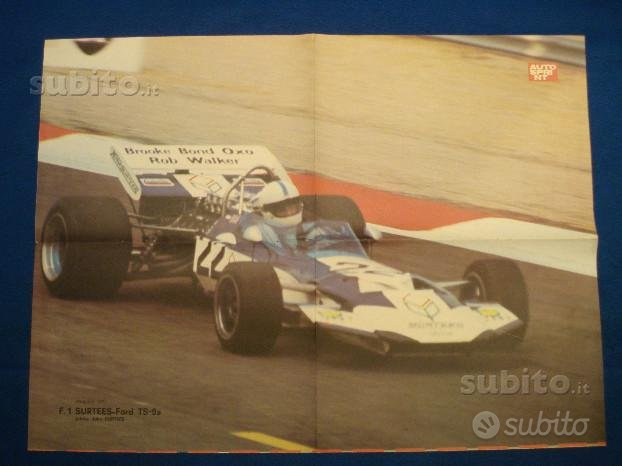 EXC.POSTER AUTOSPRINT 1971 F.1 SURTEES-Ford TS-9a