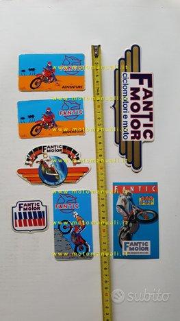 Fantic lotto 7 adesivi pubblicitari anni 80 epoca