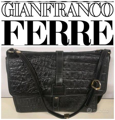 GIANFRANCO FERRÈ BORSA VINTAGE PELLE nera