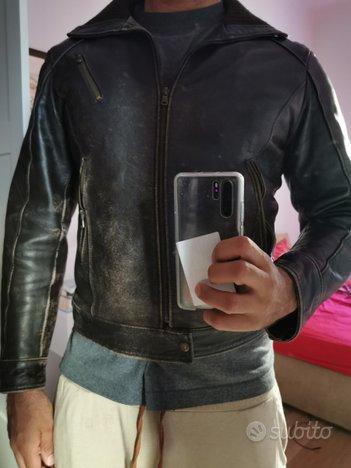 Giacca di pelle Chiodo marrone vintage taglia XL