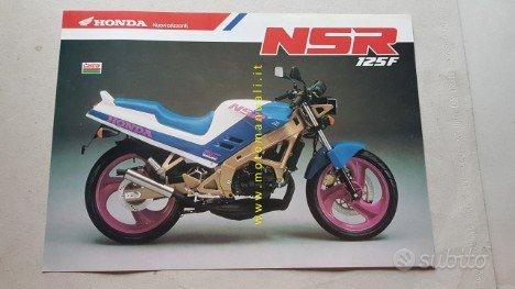 Honda NSR 125 F 1989 depliant originale italiano