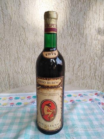 Vino Rosso Rubino di Pitigliano anno 1971