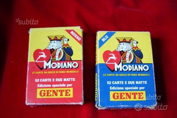 CARTE MODIANO Poker- 2Mazzi
