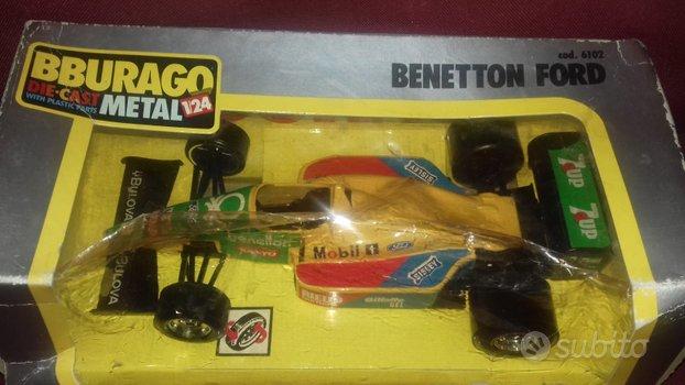 Modellino vintage auto Formula 1,Benetton Nannini