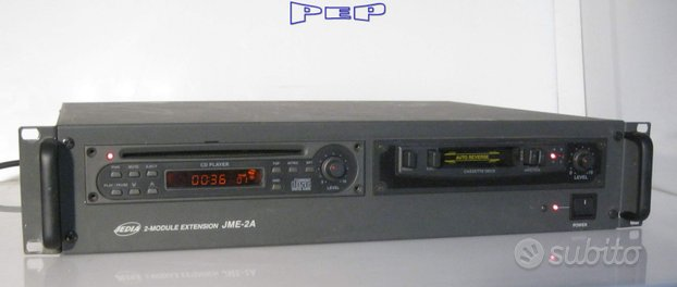Modulo PROFESSIONALE Lettore cd + cassette stereo7