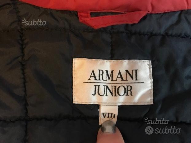 Giubbotto bimbo rosso Armani junior 8 anni