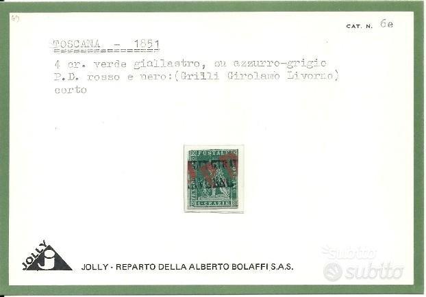 Antichi Stati, Toscana, 4 crazie annullo P.D