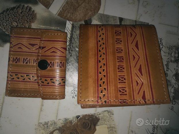 Completo portafoglio e portamonete stile etnico