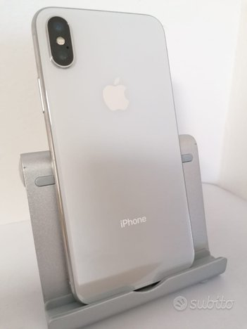IPhone X 256GB Silver, grado A-