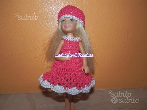 Vestito per bambola sorellina di barbie