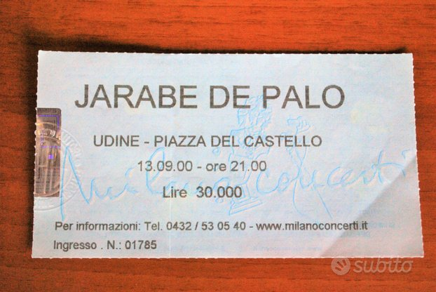 Biglietto originale concerto