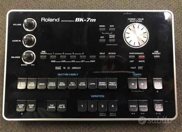 Roland bk7m MODULO ARRANGER style + pedaliera fc7