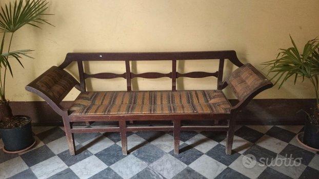 Antico divano panca stile impero 800