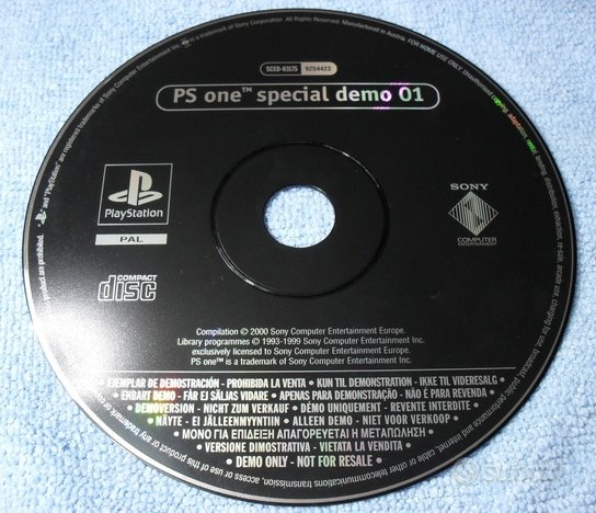 Play Station PS one special demo 01