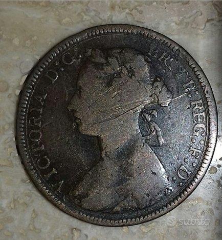 Regina Vittoria,half penny 1888
