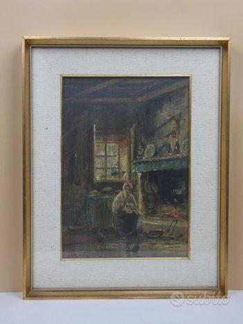 MARIO FATTORI - dipinto ad olio