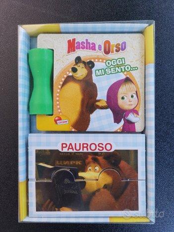 Libro e mini-puzzle masha e orso