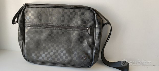 Tracolla Messenger Bag FRED PERRY uomo nera