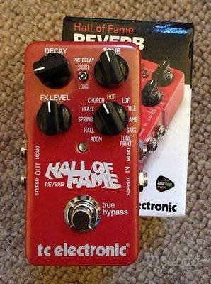 Pedale chitarra TC ELECTRONIC HALL OF FAME REVERB
