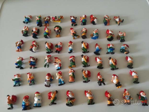 Lotto KINDER varie serie gnomburloni gnomi anni 90