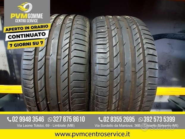 Coppia gomme usate 235 40 18 continental estive