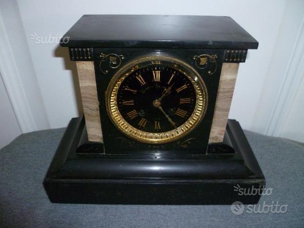 Orologio parigina pendola in marmo nero antica