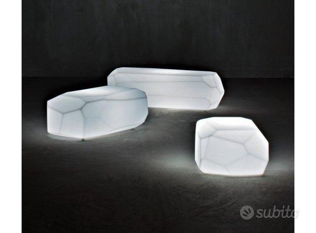 Panchina tavolino pietra luminosa serralunga slide,Slide
