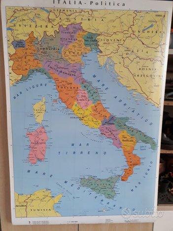 Cartina Italia Politica In Vendita.Cartina Geografica Italia Politica E Fisica Tutto Per I Bambini In Vendita A Pesaro E Urbino