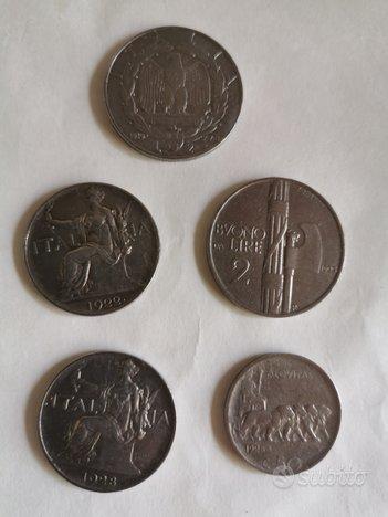 5 momete del REGNO D, ITALIA 3 BUONI E 2.IMPERO