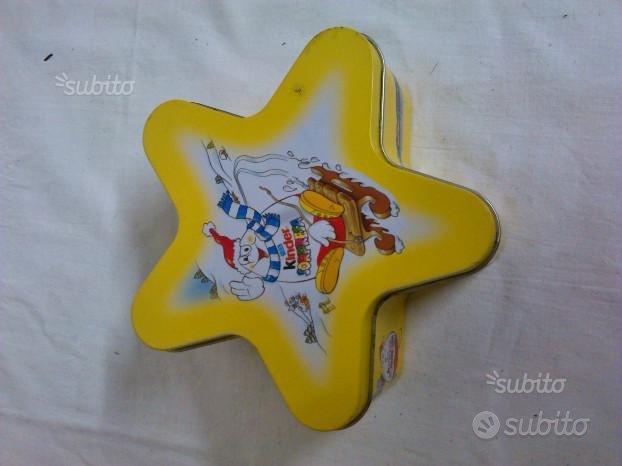 KINDER SORPRESA, scatola a forma di stella in latt