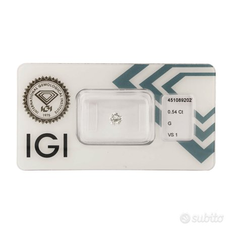 Diamante certificato IGI 0,54 ct
