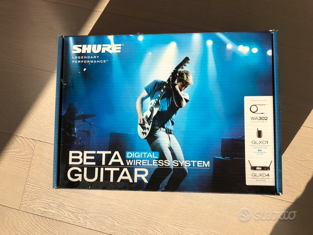 Shure beta guitar digital wireless system