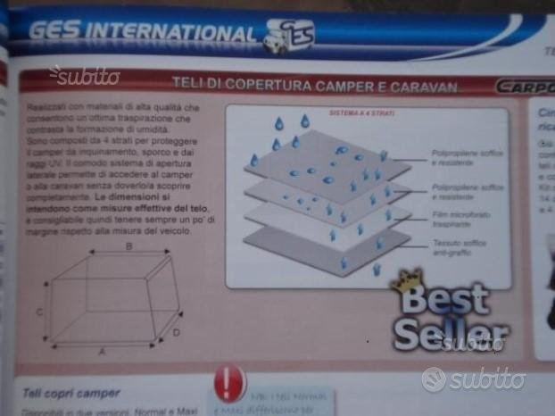 Telo Copri Camper o Caravan