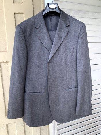 Vestito completo valentino rifinito a mano grigio
