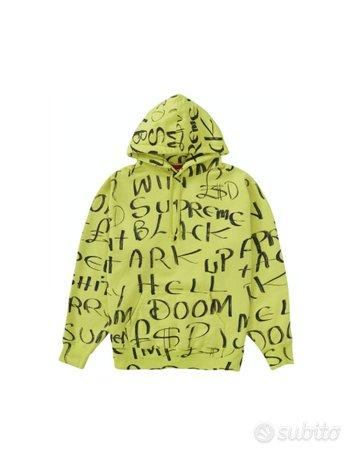 Felpa Supreme Black Ark Hooded Sweatshirt Nuova