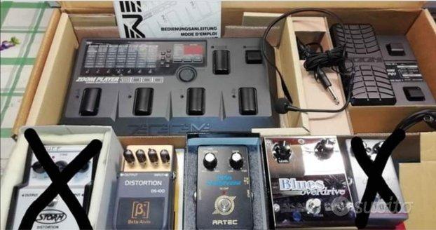 Pedali vari per chitarra elettrica