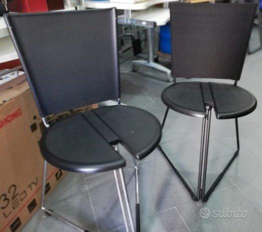 Set 4 sedie fisse pieghevoli terna - seccose