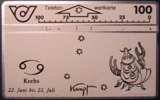 Segni Zodiacali - Schede telefoniche