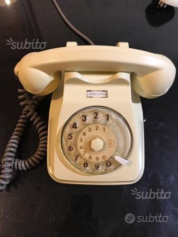 Telefono a disco S62 Siemens colore bianco latte